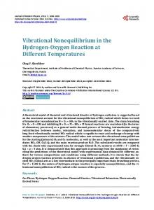Vibrational Nonequilibrium in the Hydrogen-Oxygen Reaction at