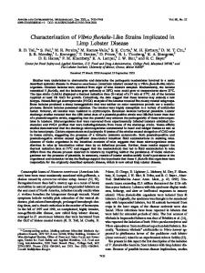 Vibrio fluvialis - Applied and Environmental Microbiology - American ...