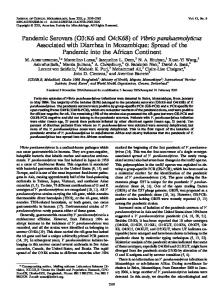 Vibrio parahaemolyticus - Journal of Clinical Microbiology - American ...