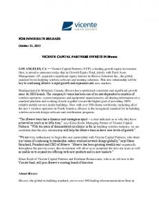Vicente Capital Partners Invests iBwave