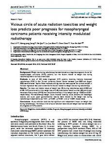 Vicious circle of acute radiation toxicities and