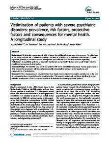 Victimization of patients with severe psychiatric ... - BioMedSearch