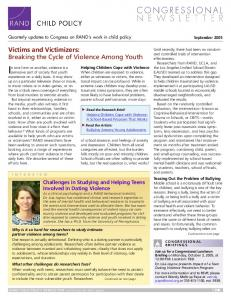 Victims and Victimizers: Breaking the Cycle of Violence Among Youth