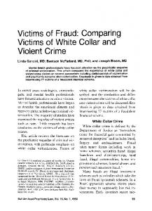 Victims of Fraud: Comparing Victims of White ... - Semantic Scholar