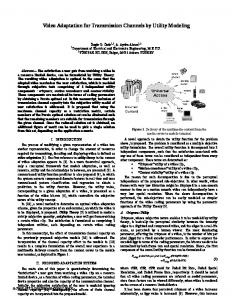 video adaptation for transmission channels by ... - Semantic Scholar