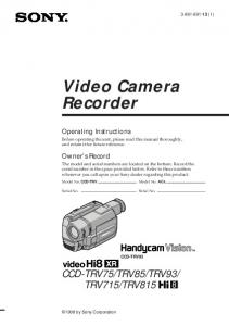 Video Camera Recorder
