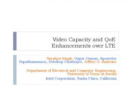 Video Capacity and QoE Enhancements over LTE