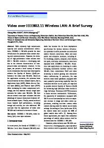 Video over IEEE802.11 Wireless LAN: A Brief Survey - IEEE Xplore