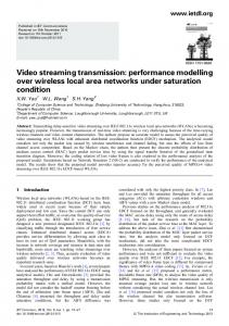Video streaming transmission: performance modelling ... - IEEE Xplore