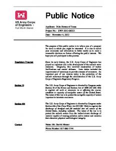 View full public notice - US Army Corps of Engineers
