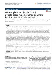 View PDF - Chemistry Central Journal