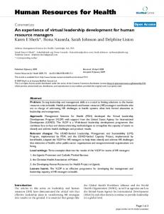 View PDF - Human Resources for Health - BioMed Central