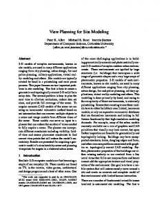 View Planning for Site Modeling - Columbia CS - Columbia University