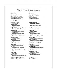 View this article - The Stata Journal