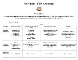 View - University of Kashmir