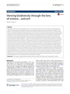 Viewing biodiversity through the lens of science ... - Semantic Scholar