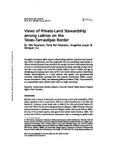 Views of Private-Land Stewardship among Latinos on the ...