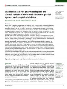 Vilazodone: a brief pharmacological and clinical ... - SAGE Journals