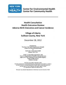 Village of Liberty: Health Outcomes Review-Adverse Birth Outcomes ...