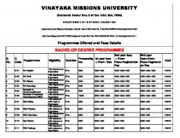 VINAYAKA MISSIONS UNIVERSITY - The Future Academy