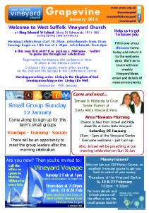 Vineyard Voyage Small Group Sunday - West Suffolk Vineyard Church