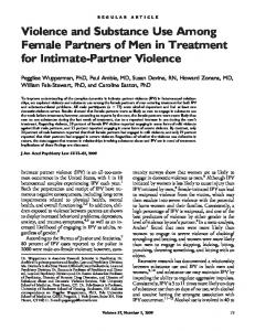 Violence and Substance Use Among Female Partners of ... - CiteSeerX