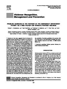 Violence: Recognition, Management and Prevention - Journal of ...