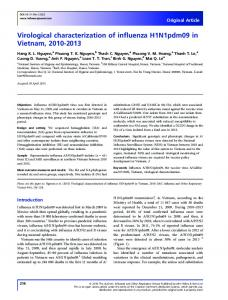 Virological characterization of influenza ... - Wiley Online Library