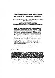 Virtual Community Based Secure Service ... - Semantic Scholar