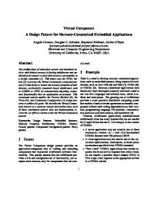 Virtual Component A Design Pattern for Memory