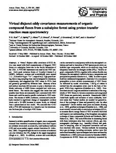 Virtual disjunct eddy covariance measurements of