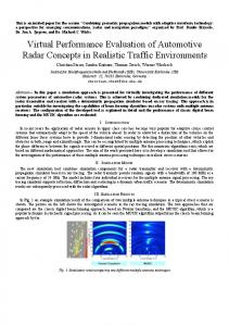 Virtual Performance Evaluation of Automotive Radar
