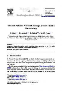 Virtual Private Network Design Under Traffic Uncertainty