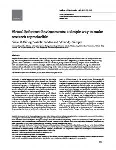 Virtual Reference Environments: a simple way to ... - Oxford Journals