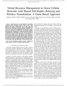 Virtual Resource Management in Green Cellular ... - IEEE Xplore