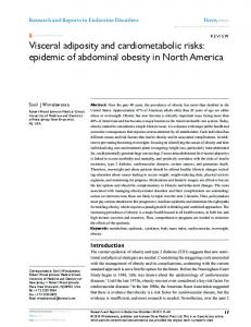 Visceral adiposity and cardiometabolic risks: epidemic of abdominal ...