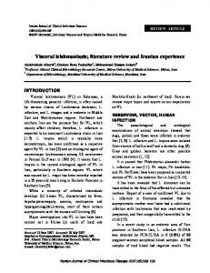 Visceral leishmaniasis - Archives of Clinical Infectious Diseases