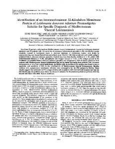 Visceral Leishmaniasis - Journal of Clinical Microbiology - American ...