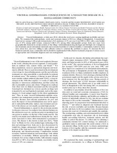 visceral leishmaniasis - The American Journal of Tropical Medicine ...