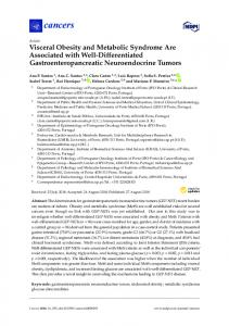 Visceral Obesity and Metabolic Syndrome Are Associated with ... - MDPI