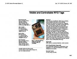 Visible and controllable RFID tags - Microsoft