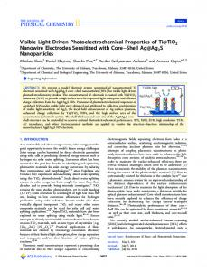 Visible Light Driven Photoelectrochemical Properties of Ti@TiO2 ...