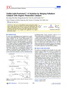 Visible-Light-Promoted C–H Arylation by Merging ... - ACS Publications