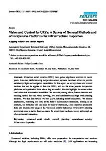 Vision and Control for UAVs: A Survey of General ... - Lucian Busoniu