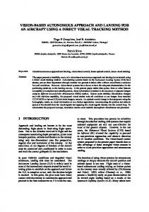 vision-based autonomous approach and landing ... - Semantic Scholar