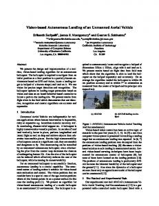 Vision-based Autonomous Landing of an Unmanned ... - CiteSeerX