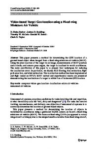 Vision-based Target Geo-location using a Fixed-wing Miniature Air ...