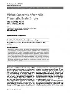 Vision Concerns After Mild Traumatic Brain Injury - Vision Specialists ...