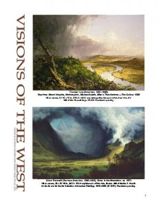 Visions of the West, Thomas Cole, Albert Bierstadt, Frederic Edwin ...