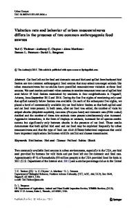 Visitation rate and behavior of urban mesocarnivores differs in the ...